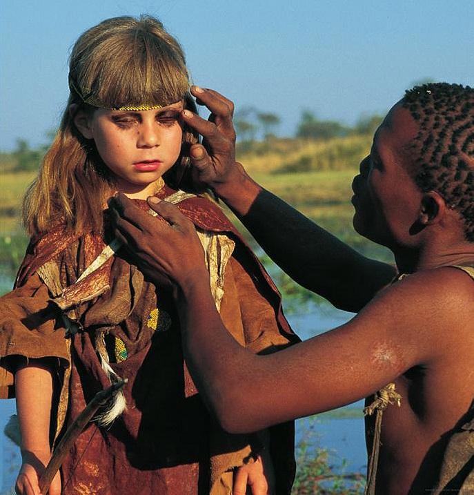Типпи Дегре в племени аборигенов Намибии. Африка. Фото