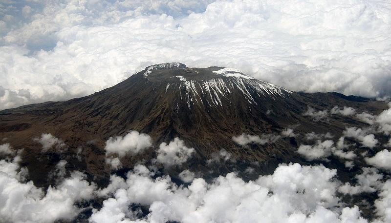 Таяние ледников на Килиманджаро. Фото