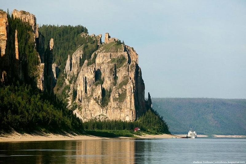 Ленские столбы. Якутия. Россия. Красивое фото