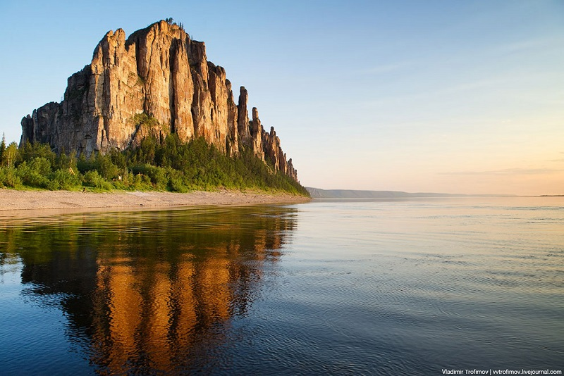 Ленские столбы на закате. Якутия. Россия. Фото