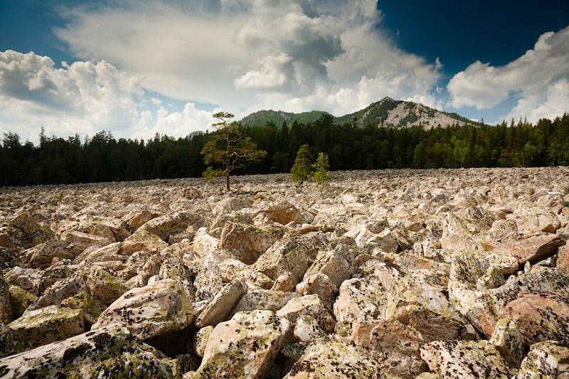 Каменные реки. Национальный парк Таганай. Урал. Фото