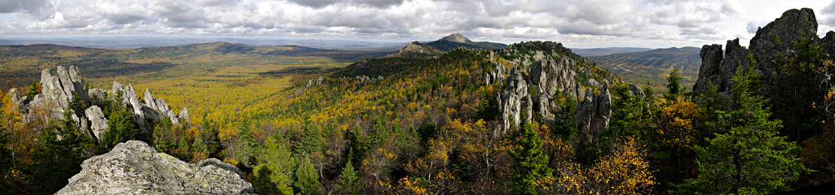 Национальный парк Таганай. Панорама. Фото