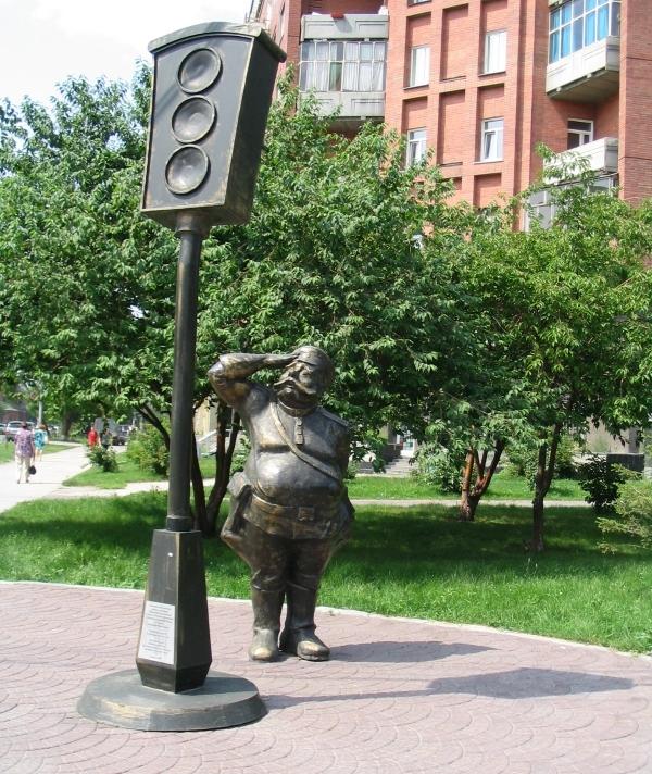 Памятник первому светофору. Фото