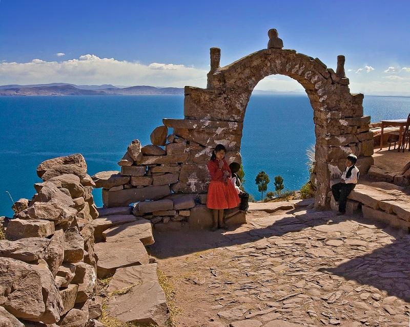 Озеро Титикака в Боливии/Перу. Фото