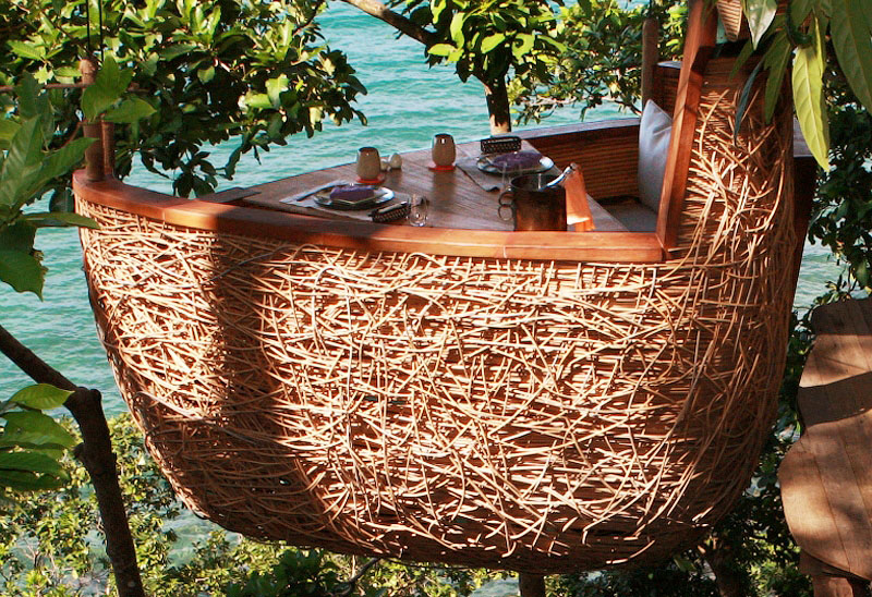 Ресторан Птичье гнездо на дереве. Курорт Soneva Kiri