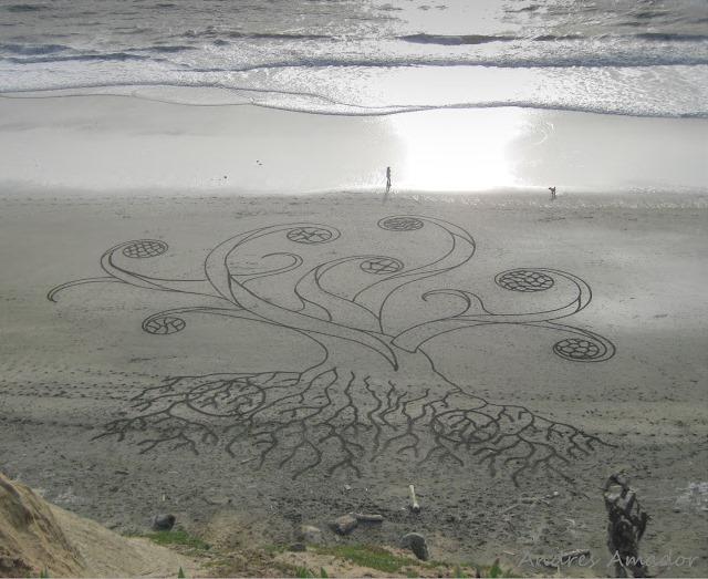 Песчаные картины от Андреса Амадора