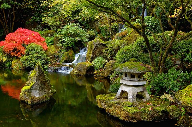 Красивые фото японского сада в Портленде, Орегон