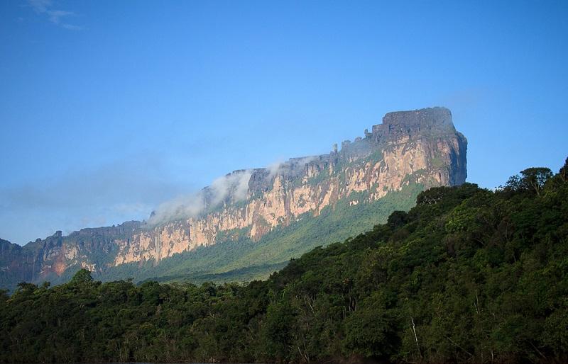 Вид столовой горы Ауянтепуи. Фото