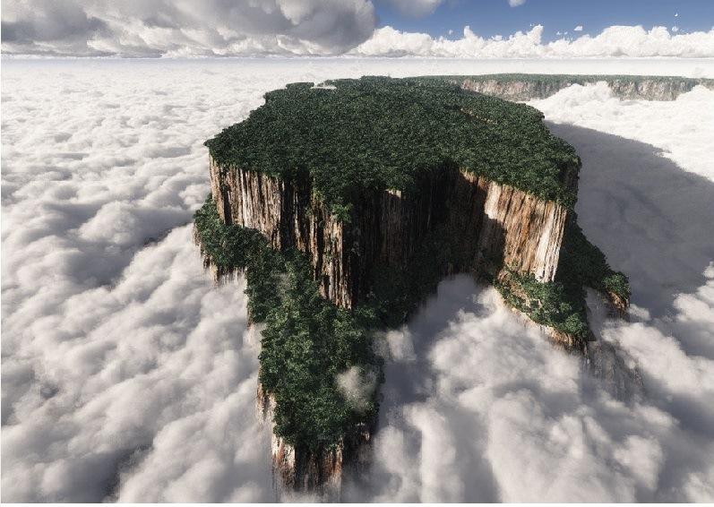 Тепуи, окруженные облаками. Фото