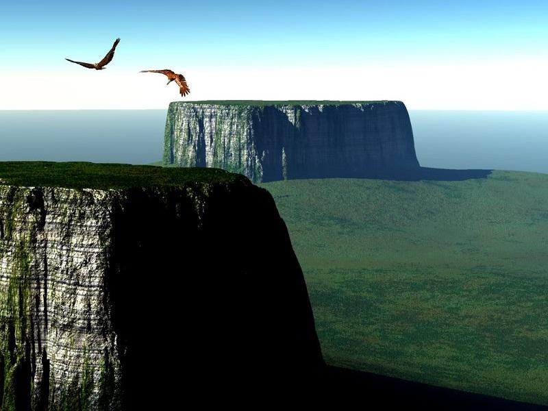 Столовые горы - тепуи в Венесуэле, Бразилии и Гайане. Фото