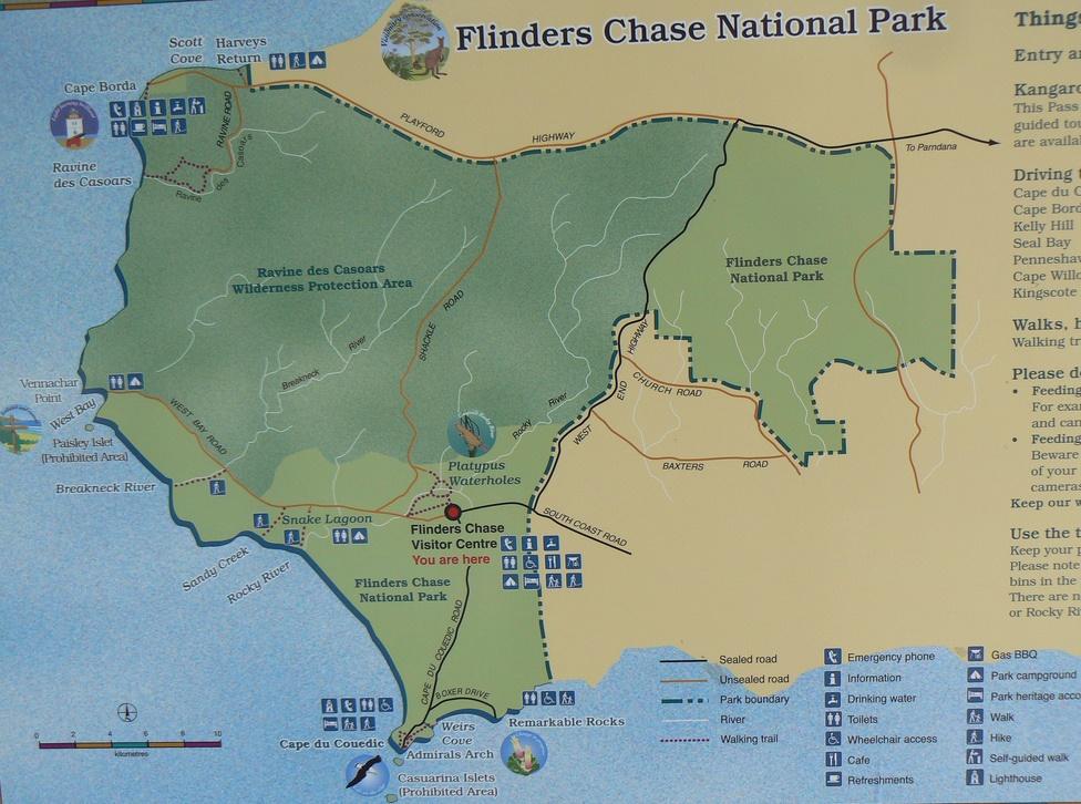 Национальный парк Флиндерс Чейз. Карта. Фото
