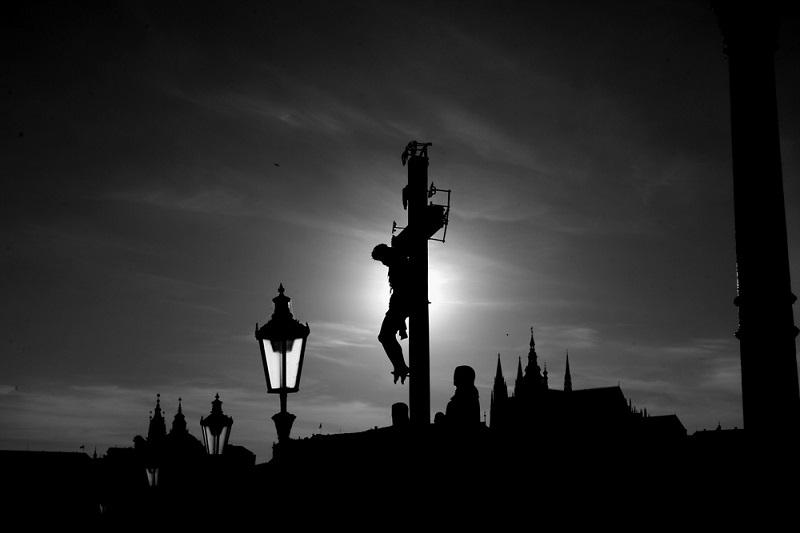 Карлов мост. Прага. Чехия. Ночное фото