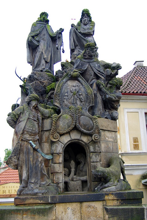 Карлов мост. Прага. Чехия. Скульптура