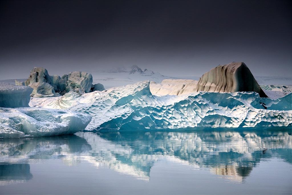 Ледниковое озеро Йокульсарлон в Исландии. Фото