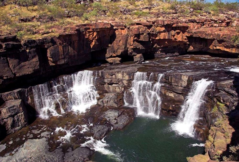 Многоуровневый водопад Митчелл. Австралия. Фото