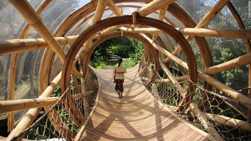 Бамбуковый эко-комплекс Green Village на острове Бали, Индонезия. Фото