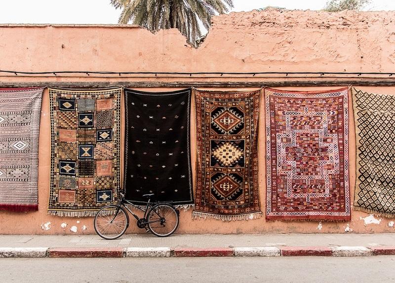 Искусство ковроткачества в Марокко. Фото