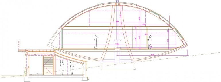 Вращающийся экологичный дом Domespace. План