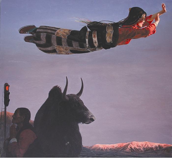Тибетская девушка летает