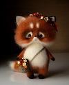 Авторские игрушки из шерсти Кристины Шаблиной (25 фото)