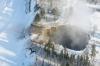 Дыра в земле в лесах Швеции