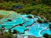 Травертиновые террасы долины Хуанлун, Китай (22 фото)